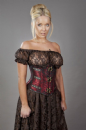 C-Lock Red King Brocade Underbust Corset